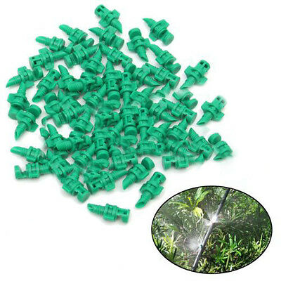 50Pcs Micro Garden Lawn Water Spray Misting Nozzle Sprinkler Irrigation Sprayers