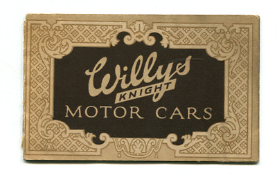 Original Circa 1920`s Willys Knight Touring Car,roadster ,sedan,coupe  Brochure
