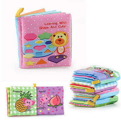 Newborn Baby Reading Early Cloth Book Developmental Learning Educational Infant