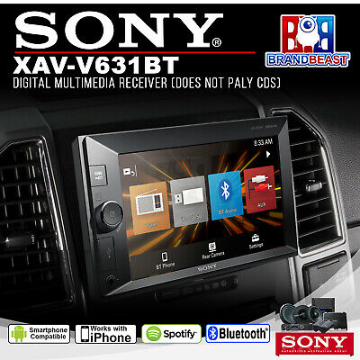 Sony Xav-v631bt Usb Bt Power Output Lcd Receiver With Bluetooth- Xavv631bt