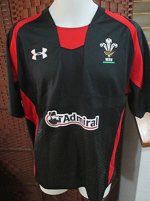 Wales Wru Under Armour Welsh Rugby Union Jersey Admiral 2Xl