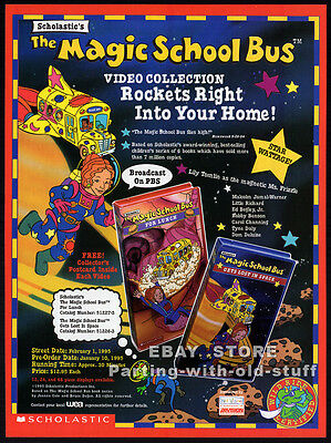 THE MAGIC SCHOOL BUS__Original 1994 Trade Print AD promo__SCHOLASTIC / PBS__TV
