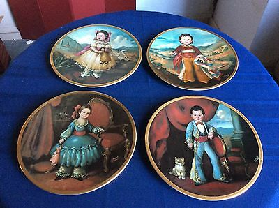 """4 10 1/2"""" collectors plates  """"Children of Mexico"""" Series  for Pickard china, USA"""