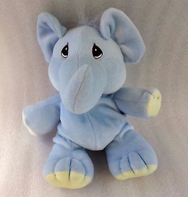 1997 Precious Moments Tender Tails Enesco Bean Bag Elephant Plush Stuffed Animal