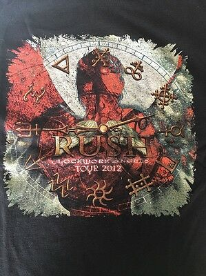 Rush Clockwork Angels 2012 tour shirt XL