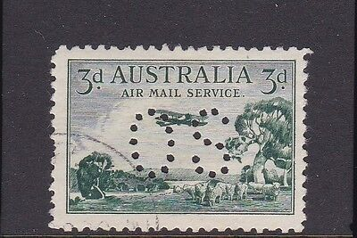 1929 PERTH TO ADELAIDE 3d AIRMAIL PERF O.S.  Fine Used