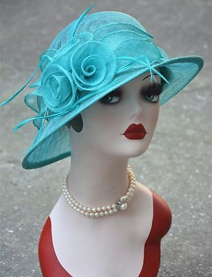 Kentucky Derby Royal Ascot Ladies' Day Sinamay Cloche Womens Wedding Hats T153