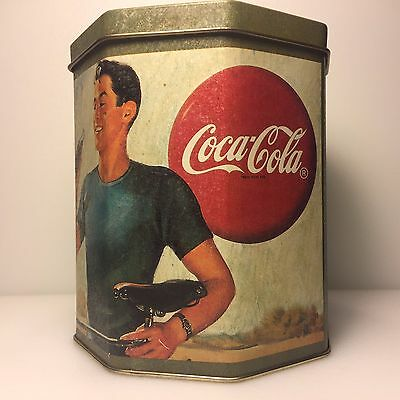 Vintage Coca Cola Tin featuring Cycling