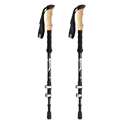 Enkeeo 1 Pair 100% Carbon fiber Ultralight Trekking Pole for Hiking Walking