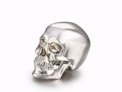 """Nice 1.2"""" Solid Sterling Silver Skull, Super Realistic #S789"""