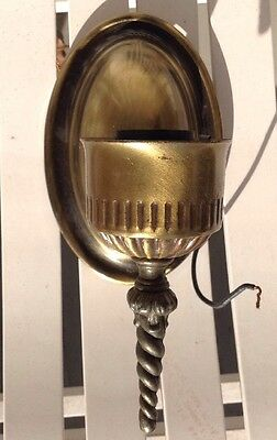 Underwriters Laboratories Light Wall Sconce Fixture 3.5 x 7.5 Antique Brass