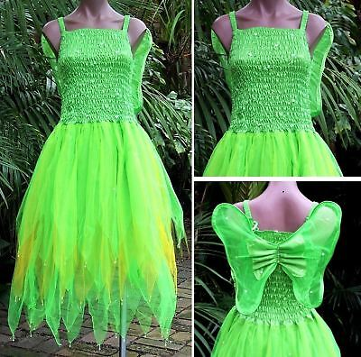 Plus Size Fairy Dress Party Costume With Wings Neongold