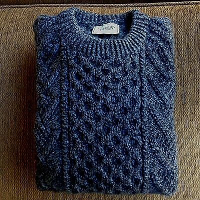 Carraig Donn Merino Hand Knit Wool Mens Jumper Size M Euc Made In Reland