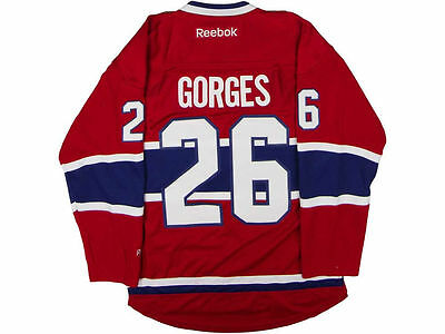 Montreal Canadiens #26 Josh Gorges Reebok NHL Men's Premier Jersey L - NEW