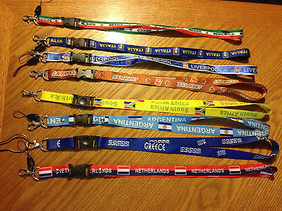 SOCCER/FOOTBALL/OLYMPIC LANYARDS many teams and varieties! ID HOLDER