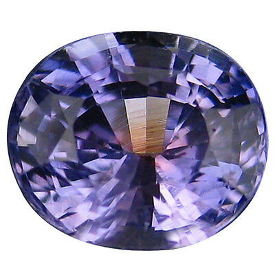 0.94 Ct 100% Alluring Rarest Natural Good Luster  Violet Sapphire Oval Gemstone