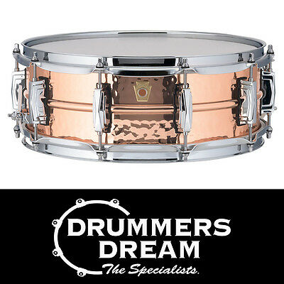 """Ludwig Copperphonic 14x5"""" Hammered Snare Drum RRP $1499 Seamless Copper Shell"""