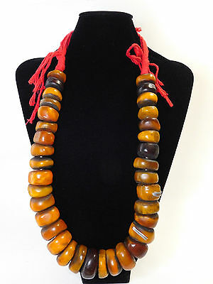 North African Berber Resin Vintage Beads Ethnic Necklace From Morocco