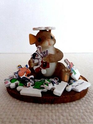 """Fitz & Floyd Charming Tails """"Friends Make All Pieces Fit"""" 89/181 - with Puzzle"""