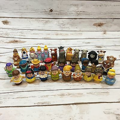 Lot of Modern Fisher-Price Little People Including Disney Characters Klip Klop