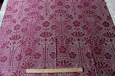Antique Arts & Crafts French Printed Cotton Fabric Textile c1880-1890