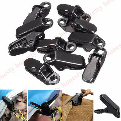 2~10x Camping Awning Canopy Clamp Tarp Clip Car Boat Emergency Tent Tighten Snap