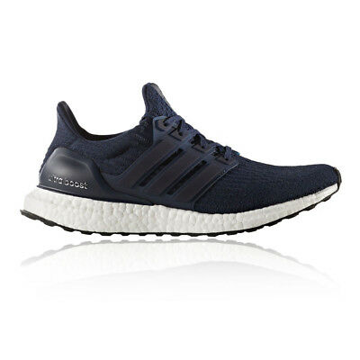 Adidas Ultra Boost Mens Blue Cushioned Running Sports Shoes Trainers Pumps