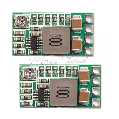 2PCS DC-DC 12-24V To 5V 3A Adjustable Step Down Power Module Buck Converter Mini