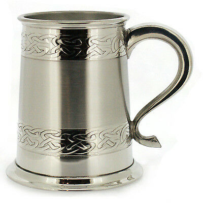 Personalised Celtic 1 Pint Pewter Tankard - can be engraved if required