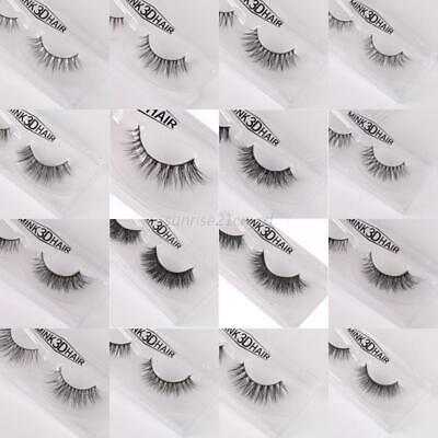 3D Mink Soft Makeup False Eyelashes Long Thick Natural Eye Lashes Extension New