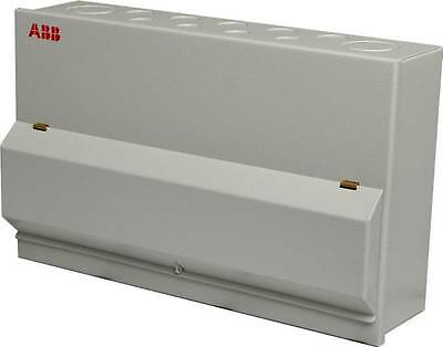 20 Way ABB Metal Enclosed 20W Consumer Unit C/W DP 100A ISOLATOR E202 Inc 12 MCB