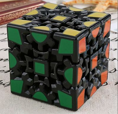 Gear 3x3x3 Dodecahedr Pyramid Magic Rubik Cube Twist Puzzle Kid Toy Gift Black