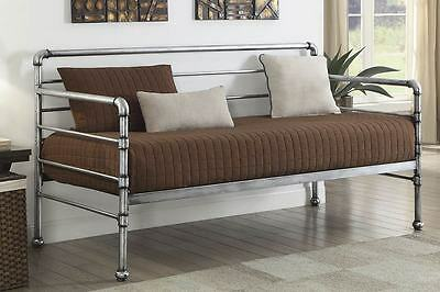 Industrial Bedroom Style Scaffold Type Metal Day Bed Daybed + Mattress Options