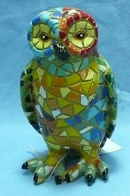 BEAUTIFUL OWL COLLECTIBLES FIGURINES Colorful Mosaic  HandMade Gaudi style