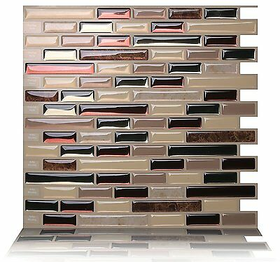 Tic Tac Tiles® - Premium 3D Peel & Stick Wall Tile in Como Mare(5sheets)