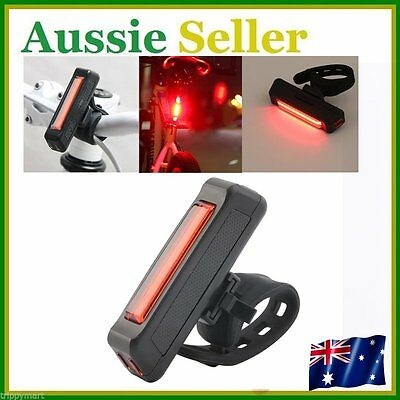 HOT! USB Rechargeable Bike Bicycle Light Rear Back Safety Tail Light Red