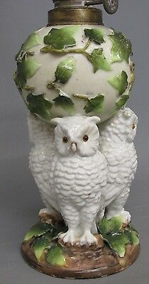 Victorian Miniature Owl Nursery Oil Lamp