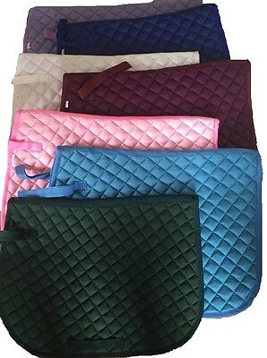 saddle cloth pad equine riding pad square quilted padded pony cob full