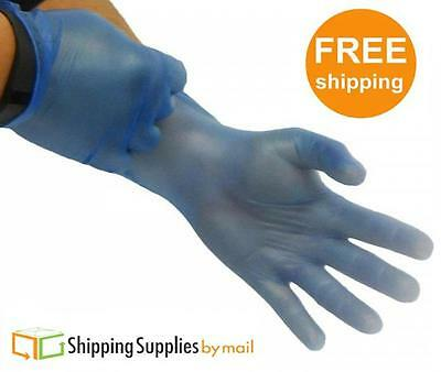 2000 Powder Free Disposable Gloves Non Latex Blue Vinyl Exam Size: X-Large