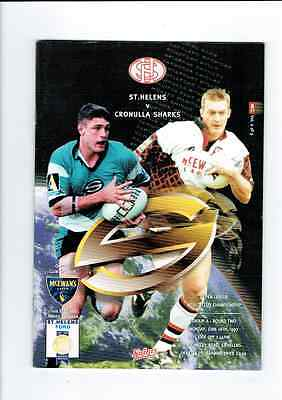 ST.HELENS  v.  CRONULLA  SHARKS SUPER LEAGUE WORLD CUB MATCH 16 JUNE 1997