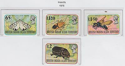 British Indian Ocean Territory 'Insects' 1976 set of 4 Stamps Unmounted Mint