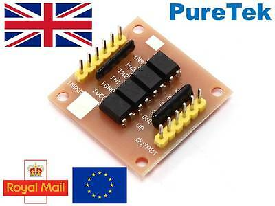 PC817, 4 channel opto-isolator breakout for Arduino, optoisolator, optocoupler