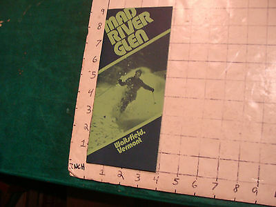Vintage High Grade SKI brochure: MAD RIVER GLEN waitsfield Vt. 1975