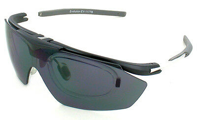 Evolution Hawk Rx  Clay Shooting Cycling Glasses 4 Lenses & Perscrption Insert