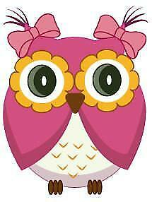 Cute Pink Owl Movable Wall Stickers