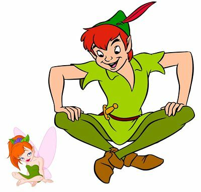 Peter Pan and Tinkerbell Movable Wall Stickers