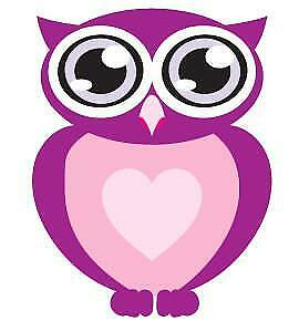 Big Eyes Purple Owl Movable Wall Stickers