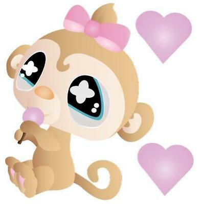 Cute Monkey Movable Wall Stickers