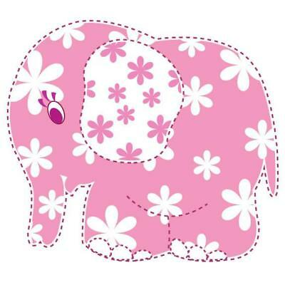 Elephant Pink Movable Wall Stickers