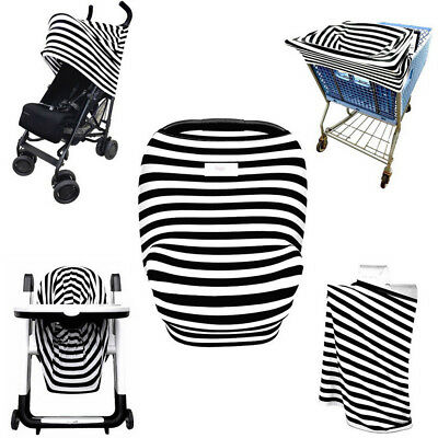 Multi-Use Stretchy Newborn Nursing Cover Baby Infant Car Seat Canopy Cart Cover